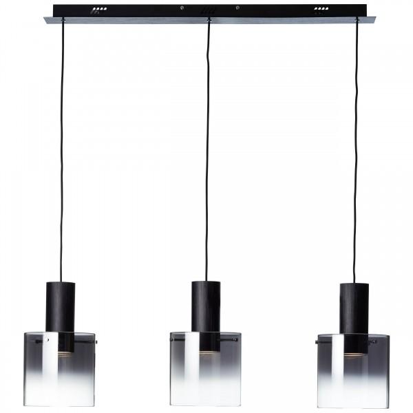 Brilliant G75573/93 Beth Pendelleuchte, 3-flammig Metall/Glas LED Lampen