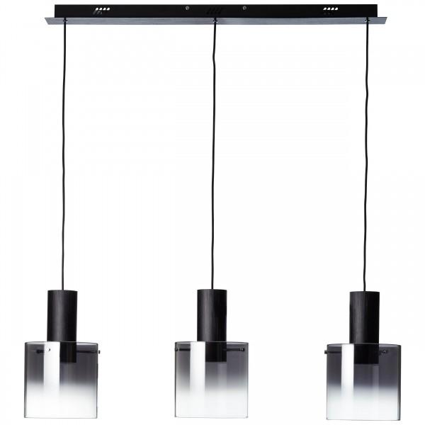 Brilliant G75573/93 Beth Pendelleuchte, 3-flammig Metall/Glas schoene lampenwelt
