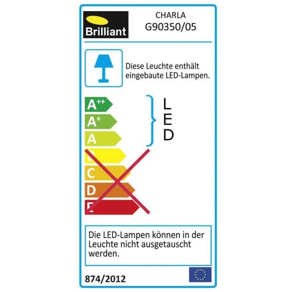 Brilliant G90350/05 Charla Deckenaufbau-Paneel 30x30cm Metall/Kunststoff Tischleuchte