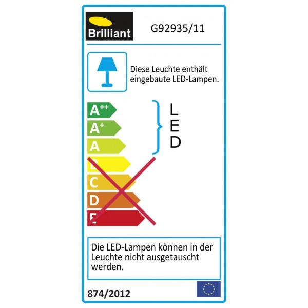 Brilliant G92935/11 Anthony Tischleuchte Metall/Kunststoff silber Leuchten