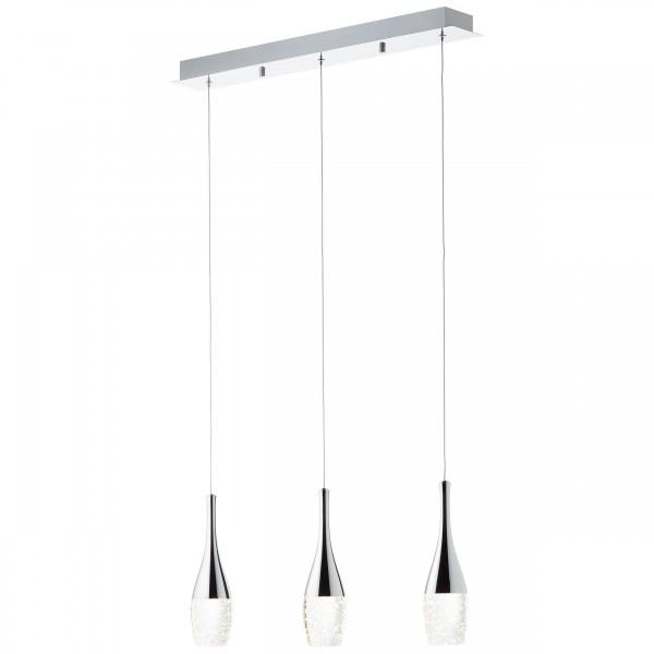 Brilliant G93426/15 Prosecco Pendelleuchte, 3-flammig Metall/Glas LED Lampen