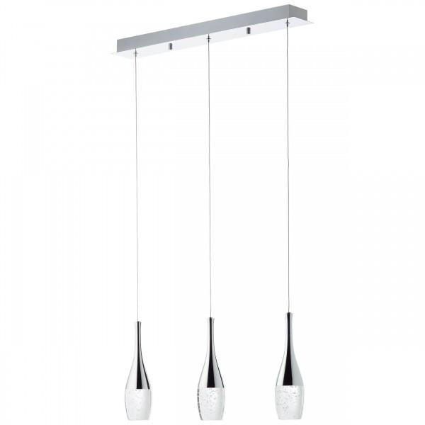 Brilliant G93426/15 Prosecco Pendelleuchte, 3-flammig Metall/Glas schoene lampenwelt
