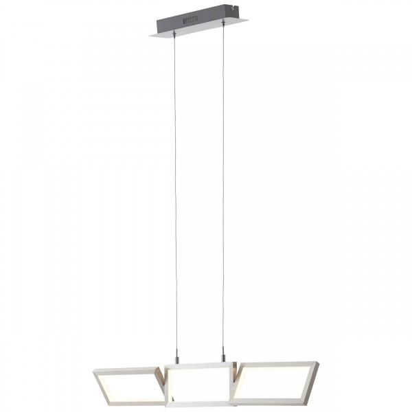 Brilliant G93450/21 Tunar Pendelleuchte, 3-flammig Aluminium/Kunststoff LED Lampen