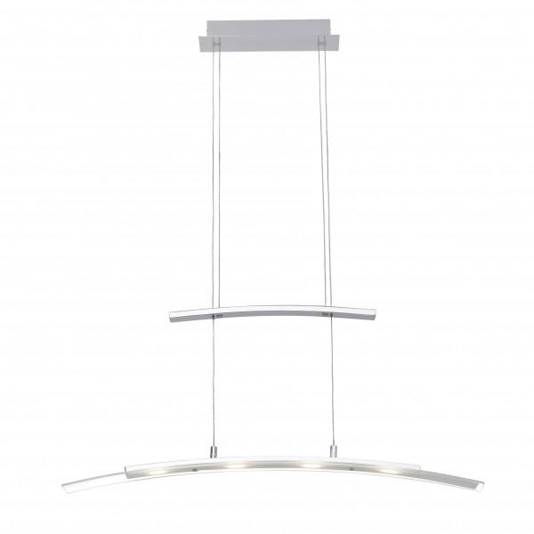Brilliant G93451/75 Bernadette Pendelleuchte, 4-flammig Metall/Glas LED Lampen