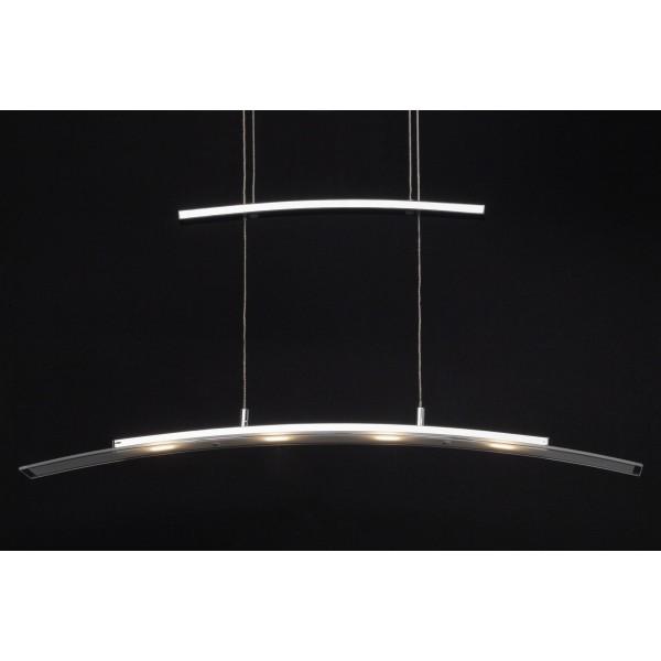 Brilliant G93451/75 Bernadette Pendelleuchte, 4-flammig Metall/Glas schoene lampenwelt