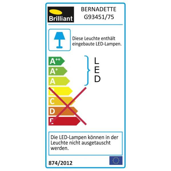 Brilliant G93451/75 Bernadette Pendelleuchte, 4-flammig Metall/Glas Beleuchtung
