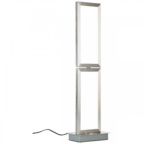 Brilliant G93452/21 Tunar Tischleuchte, 2-flammig Aluminium/Kunststoff LED Lampen