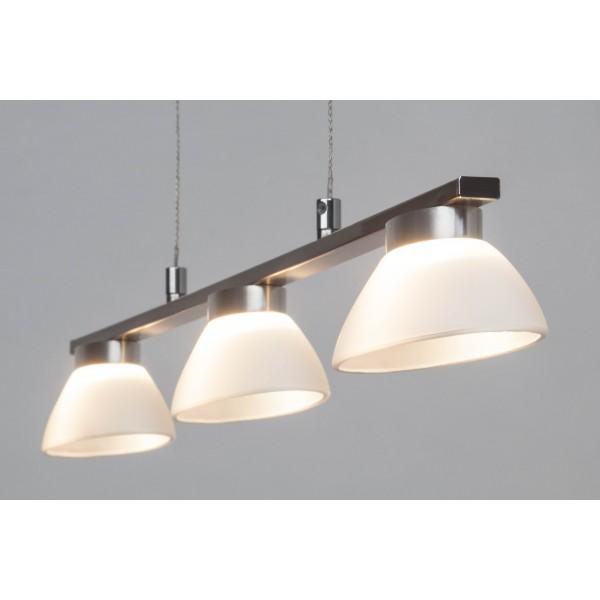 Brilliant G93517/13 Trend Pendelleuchte, 3-flammig Metall/Glas Leuchten