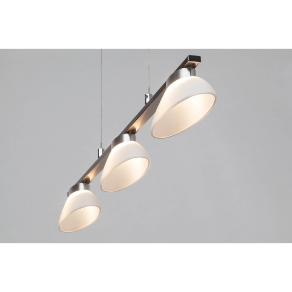 Brilliant G93517/13 Trend Pendelleuchte, 3-flammig Metall/Glas Beleuchtung