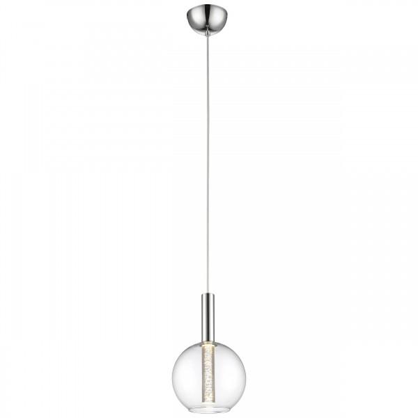 Brilliant G93525/15 Elegant Pendelleuchte, 1-flammig Glas/Metall LED Lampen