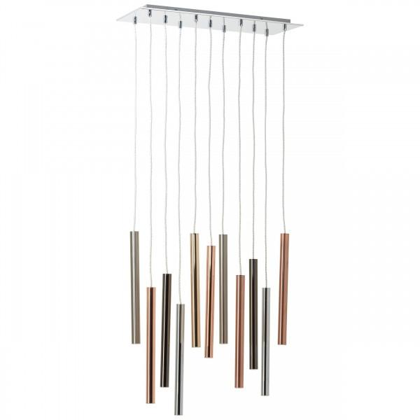 Brilliant G93703/77 Organ Pendelleuchte, 11-flammig Metall/Glas LED Lampen