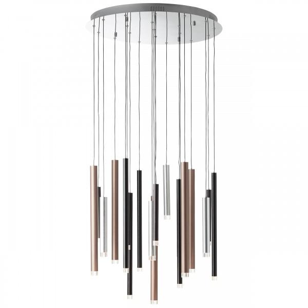 Brilliant G93731/20 Cembalo Pendelleuchte, 20-flammig Metall/Kunststoff LED Lampen