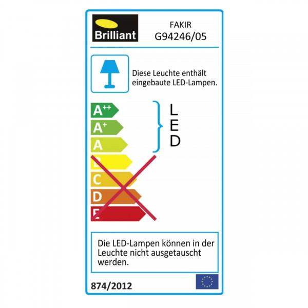 Brilliant G94246/05 Fakir Wand- und Deckenleuchte 30cm Metall/Kunststoff Leuchten
