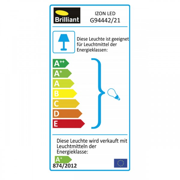 Brilliant G94442/21 Izon Wandleuchte (Uplight) Metall schoene lampenwelt