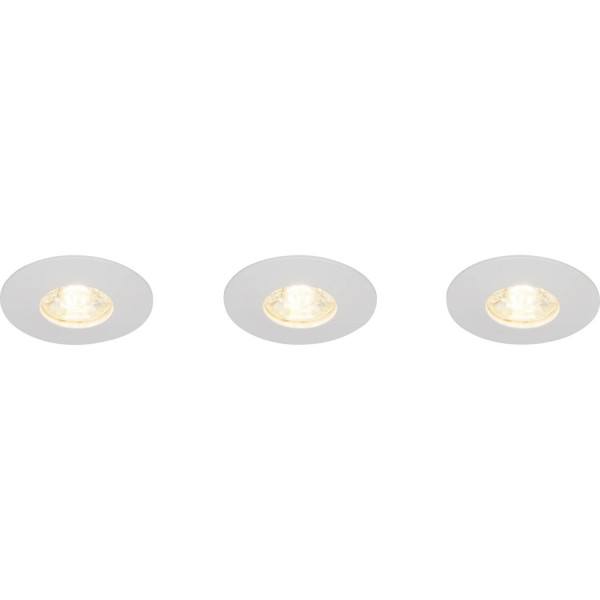 Brilliant G94680/05 Nodus Einbauleuchtenset: 3 Stueck, fest Kunststoff LED Lampen