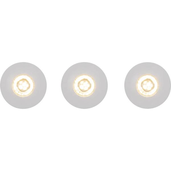 Brilliant G94680/05 Nodus Einbauleuchtenset: 3 Stueck, fest Kunststoff schoene lampenwelt