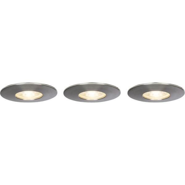 Brilliant G94680/13 Nodus Einbauleuchtenset: 3 Stueck, fest Kunststoff LED Lampen