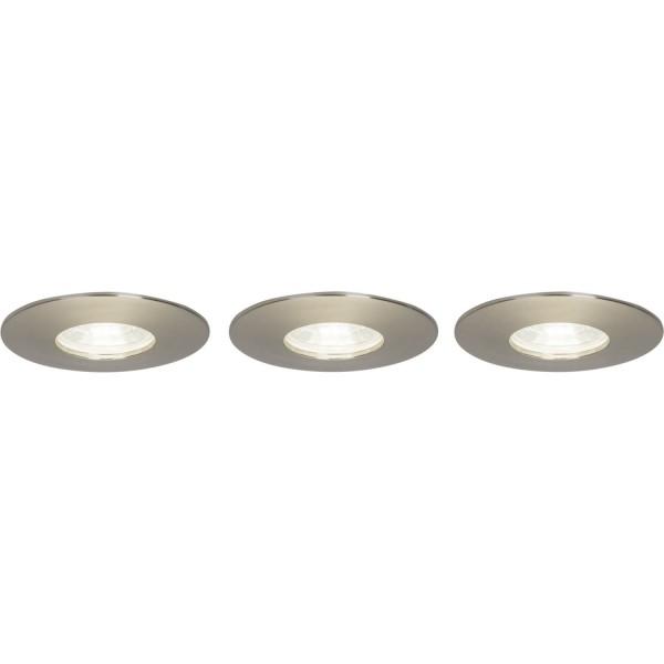 Brilliant G94681/13 Nodus Einbauleuchtenset: 3 Stueck, fest Kunststoff LED Lampen