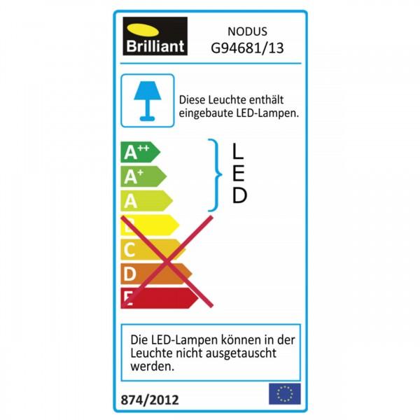 Brilliant G94681/13 Nodus Einbauleuchtenset: 3 Stueck, fest Kunststoff Beleuchtung