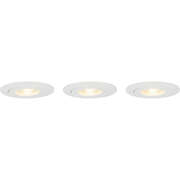 Brilliant G94682/05 Nodus Einbauleuchtenset: 3 Stueck, schwenkbar Kunststoff LED Lampen
