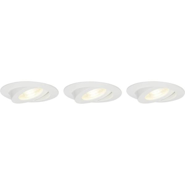 Brilliant G94682/05 Nodus Einbauleuchtenset: 3 Stueck, schwenkbar Kunststoff schoene lampenwelt