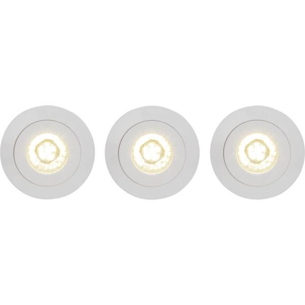 Brilliant G94682/05 Nodus Einbauleuchtenset: 3 Stueck, schwenkbar Kunststoff Leuchten