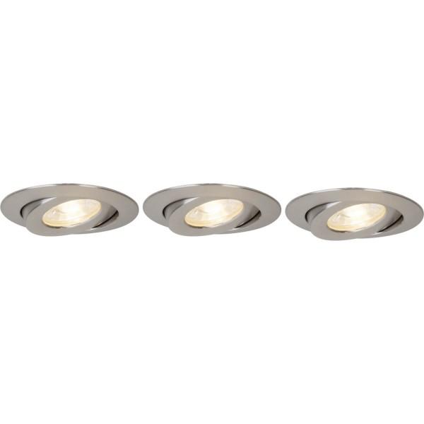 Brilliant G94682/13 Nodus Einbauleuchtenset: 3 Stueck, schwenkbar Kunststoff schoene lampenwelt