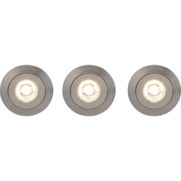 Brilliant G94682/13 Nodus Einbauleuchtenset: 3 Stueck, schwenkbar Kunststoff Leuchten