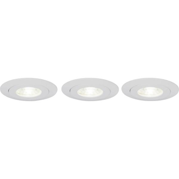 Brilliant G94683/05 Nodus Einbauleuchtenset: 3 Stueck, schwenkbar Kunststoff LED Lampen