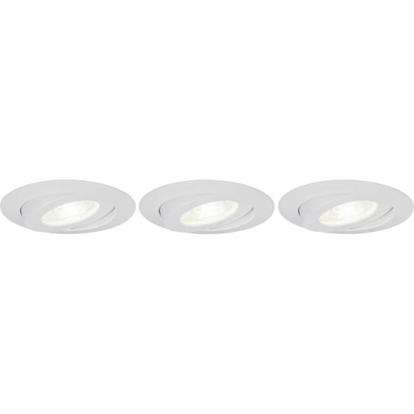 Brilliant G94683/05 Nodus Einbauleuchtenset: 3 Stueck, schwenkbar Kunststoff schoene lampenwelt