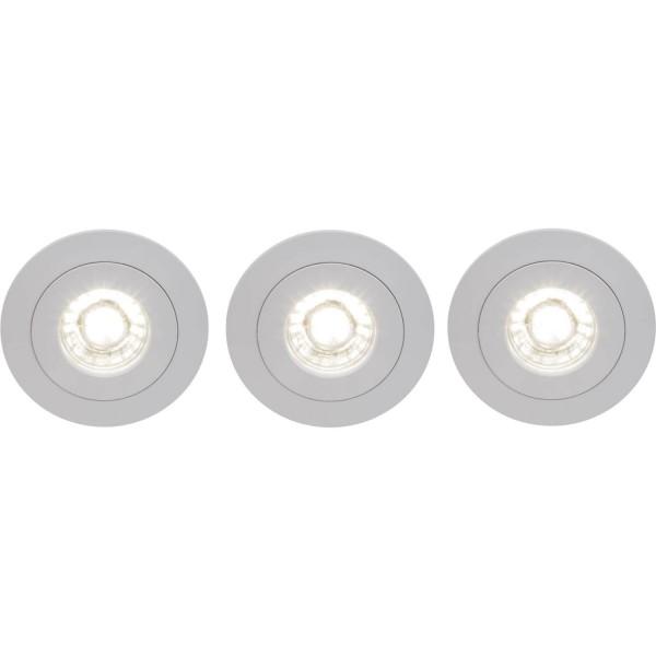 Brilliant G94683/05 Nodus Einbauleuchtenset: 3 Stueck, schwenkbar Kunststoff Leuchten