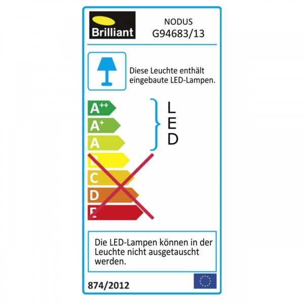 Brilliant G94683/13 Nodus Einbauleuchtenset: 3 Stueck, schwenkbar Kunststoff Beleuchtung
