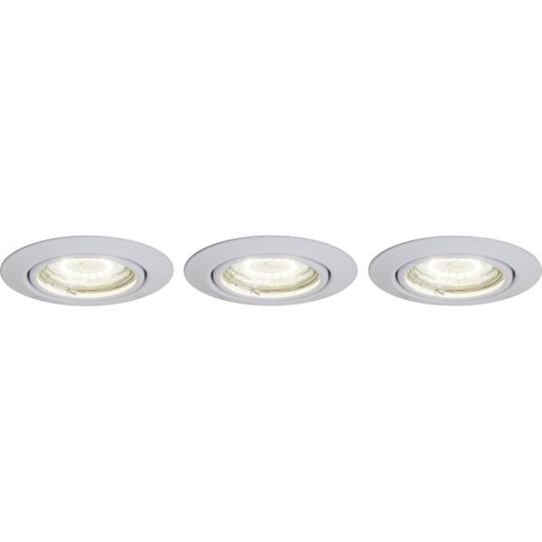 Brilliant G94688A05 Honor Einbauleuchtenset: 3 Stueck, schwenkbar Metall LED Lampen