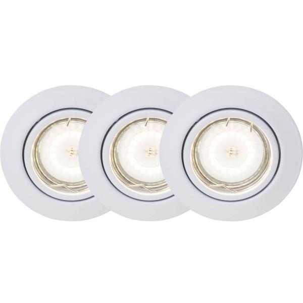 Brilliant G94688A05 Honor Einbauleuchtenset: 3 Stueck, schwenkbar Metall schoene lampenwelt