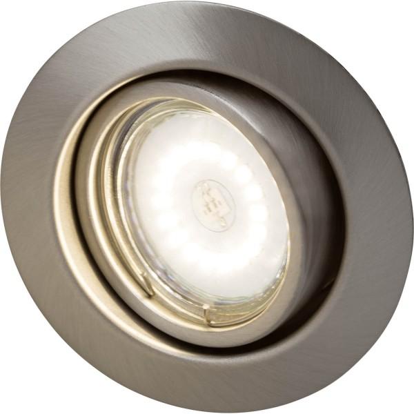 Brilliant G94688A13 Honor Einbauleuchtenset: 3 Stueck, schwenkbar Metall Leuchten