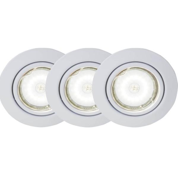 Brilliant G94690A05 Honor Einbauleuchtenset: 3 Stueck, schwenkbar Metall schoene lampenwelt