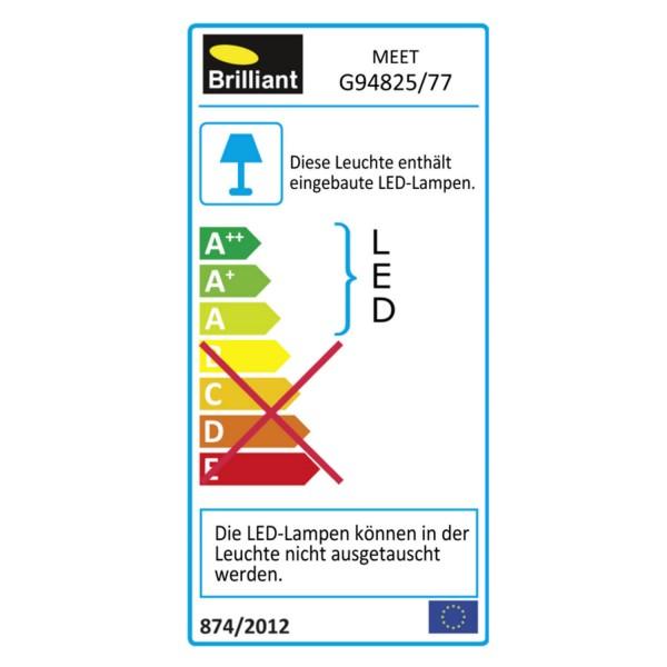 Brilliant G94825/77 Meet Standleuchte Metall/Kunststoff Beleuchtung