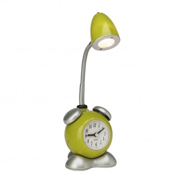 Brilliant G94837/04 Pharrell Tischleuchte mit Wecker Kunststoff/Metall LED Lampen