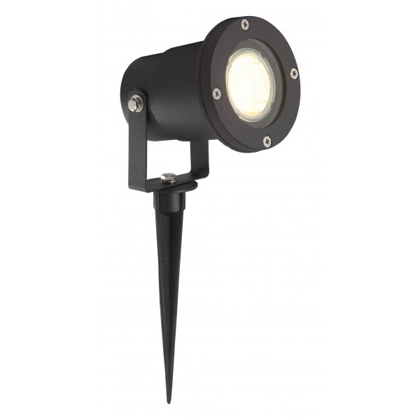 Brilliant G96232/06 Janko Aussenerdspiess 32cm Aluminium/Glas LED Lampen