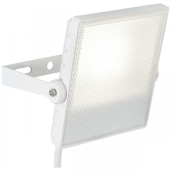 Brilliant G96322/05 Dryden Aussenwandstrahler weiss 16cm Metall/Kunststoff LED Lampen