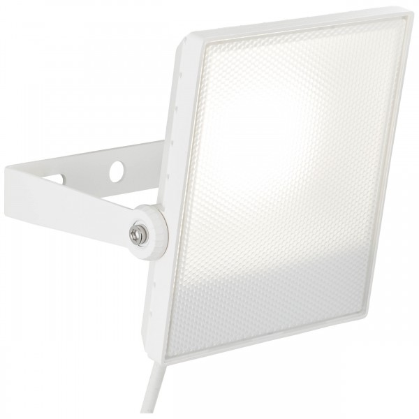 Brilliant G96323/05 Dryden Aussenwandstrahler weiss 22cm Metall/Kunststoff LED Lampen