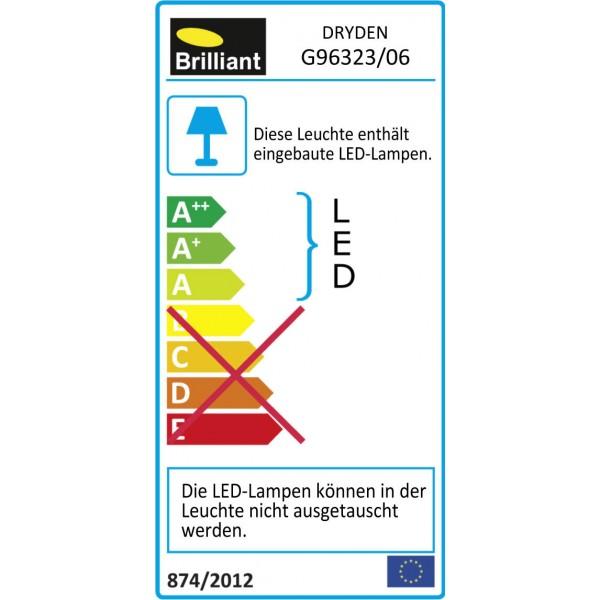 Brilliant G96323/06 Dryden Aussenwandstrahler schwarz 22cm Metall/Kunststoff Beleuchtung