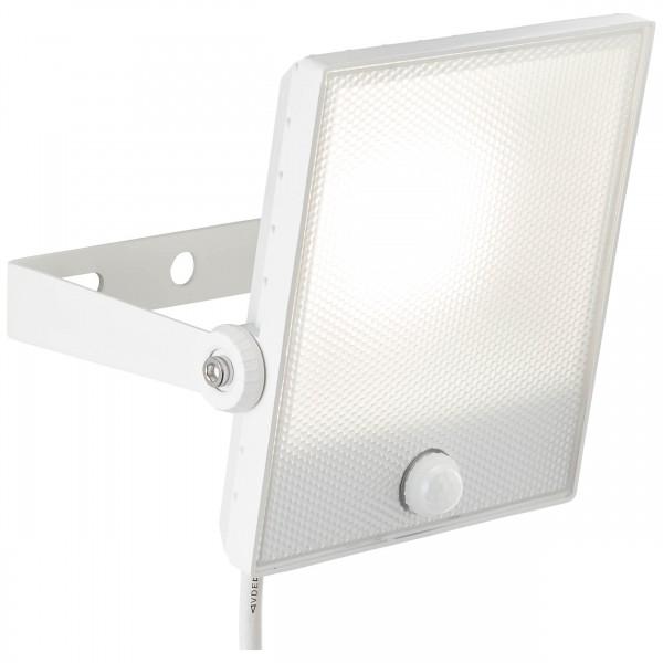 Brilliant G96325/05 Dryden Aussenwandstrahler weiss 22cm mit Bewegungsmelder Metall/Kunststoff LED Lampen