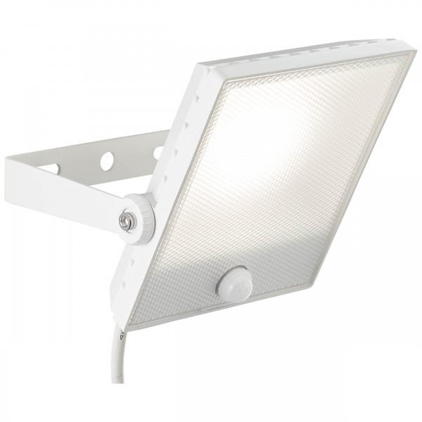 Brilliant G96325/05 Dryden Aussenwandstrahler weiss 22cm mit Bewegungsmelder Metall/Kunststoff Leuchten