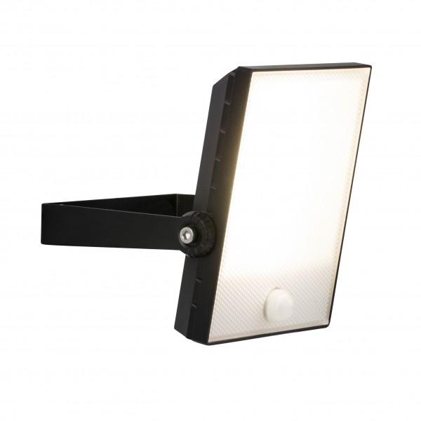 Brilliant G96325/06 Dryden Aussenwandstrahler schwarz 22cm mit Bewegungsmelder Metall/Kunststoff LED Lampen