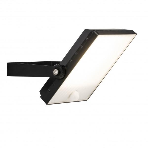 Brilliant G96325/06 Dryden Aussenwandstrahler schwarz 22cm mit Bewegungsmelder Metall/Kunststoff schoene lampenwelt