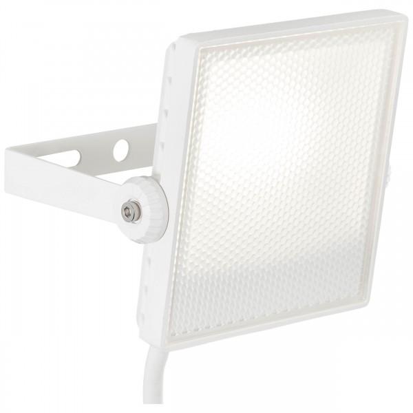 Brilliant G96329/05 Dryden Aussenwandstrahler weiss 13cm Metall/Kunststoff LED Lampen