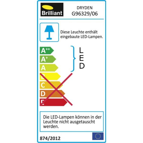Brilliant G96329/06 Dryden Aussenwandstrahler schwarz 13cm Metall/Kunststoff Beleuchtung