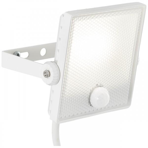 Brilliant G96330/05 Dryden Aussenwandstrahler weiss 13cm mit Bewegungsmelder Metall/Kunststoff LED Lampen