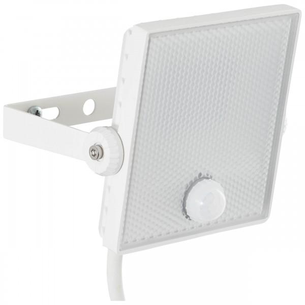 Brilliant G96330/05 Dryden Aussenwandstrahler weiss 13cm mit Bewegungsmelder Metall/Kunststoff schoene lampenwelt
